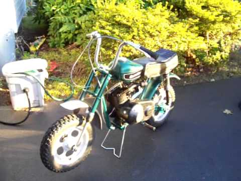 Rupp Mini Bike 1971 Scrambler - YouTube
