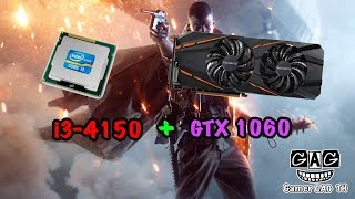 i3 4150 + GTX1060  Battlefield 1 ปรับ HIGH Test FPS