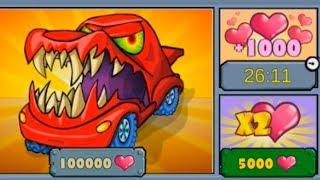 РОЗОВЫЕ ОБЛАКА New Car Eats Car 3 – Racing Game Новая машинка! про машинки и тачки (мультик игра)