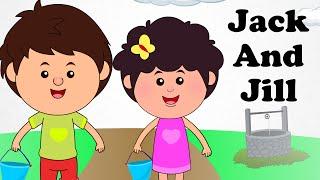 🚶 Jack and Jill | Engilsh Kids Nursery Rhymes | Cartoon Songs | HD 🚶 thumbnail