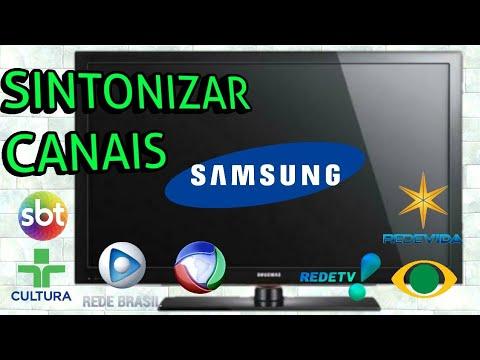 Como sintonizar os canais na tv Samsung