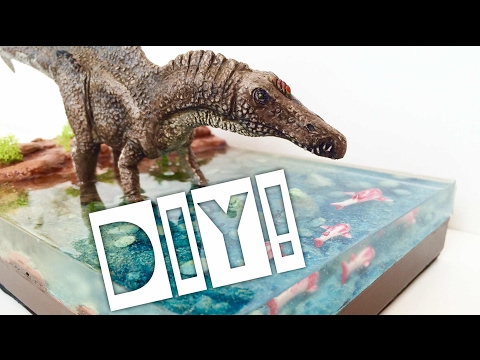 DIY realistic Dinosaur Diorama with water effect!
