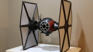 "Star Wars 6"" Scale Black Series HUGE Special Forces Tie Fighter Open and Review"