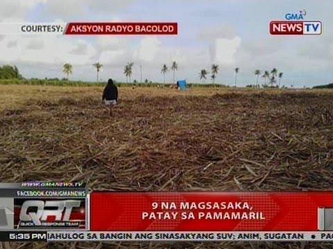 QRT: 9 na magsasaka, patay sa pamamaril sa Negros Occidental