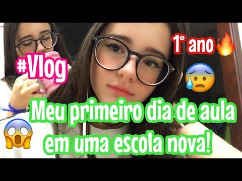 MEU PRIMEIRO DIA DE AULA EM UMA ESCOLA NOVA!😱 (Vlog)|Lauraa Menezes💕