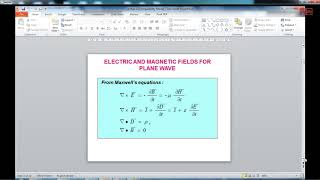 Electromagnetic waves and Transmission lines  02-01-2019