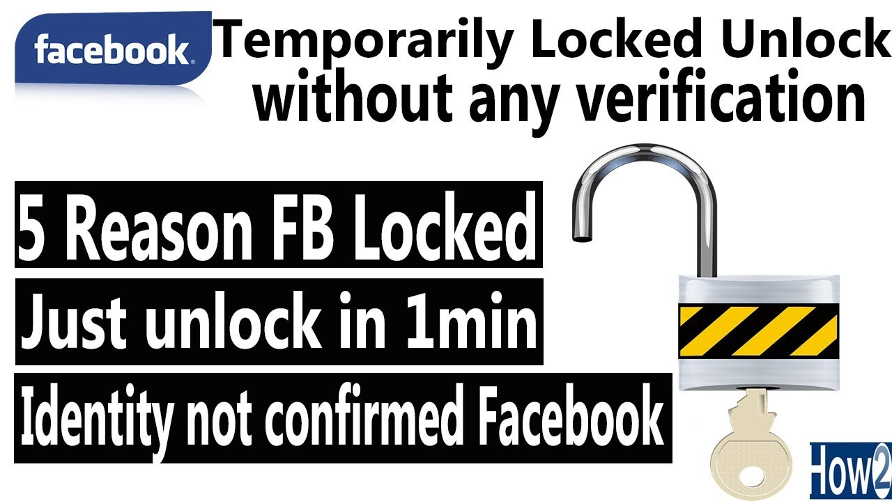 Facebook temporarily locked how to unlock