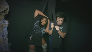 Lizzo and Average Andy Go Through a Haunted House