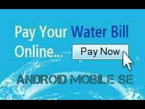 Water bill pay by android simple