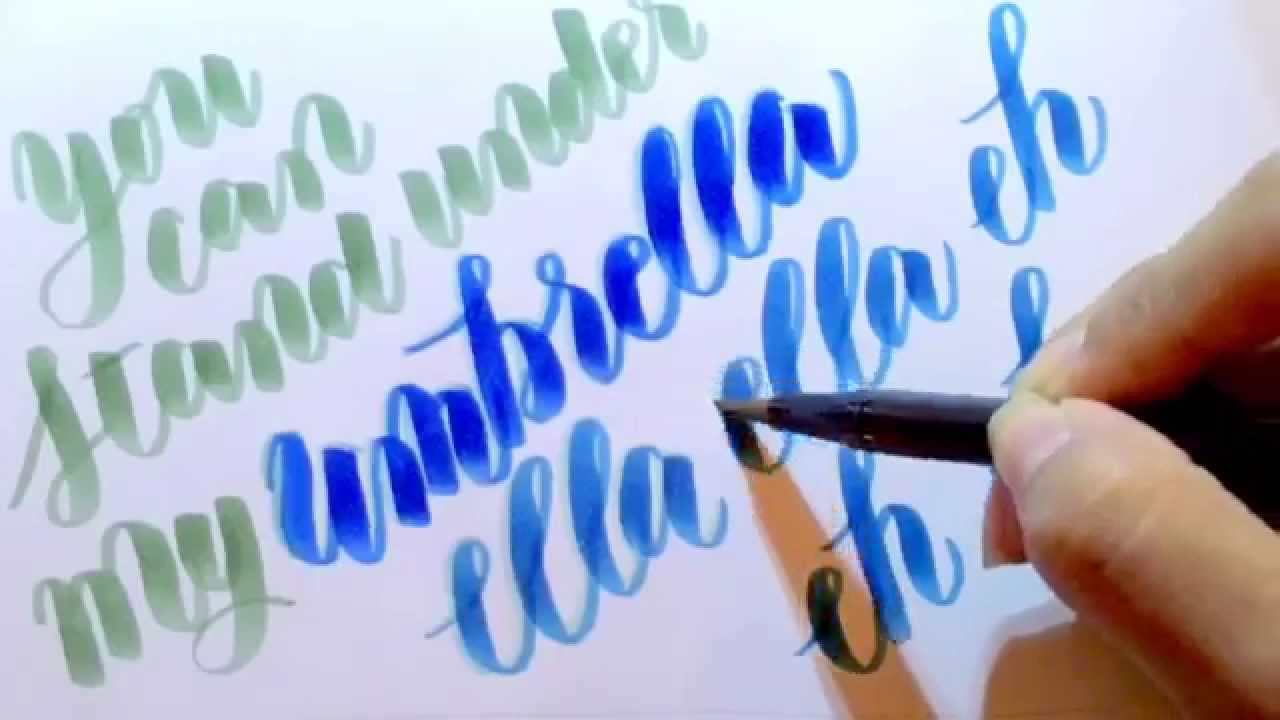 Adding Shadows And Highlights To Modern Calligraphy With Tombow Dual Brush Gelly Roll Pens