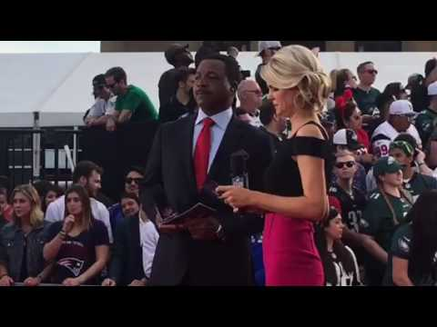 Melissa Stark, Carl Weathers On NFL Draft Red Carpet 2017 #NFLDraft