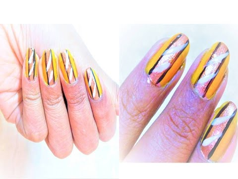 NAIL ART Designs Without Any Tools Step By At Home