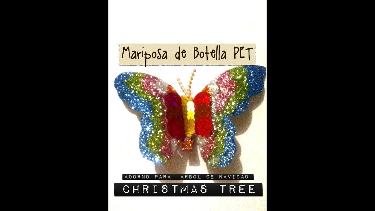Mariposa pet botella decoraci n arbol de navidad tree - Decoracion con mariposas ...