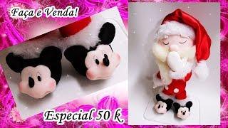 Faça Papai Noel de Pijama e Pantufa de Mickey