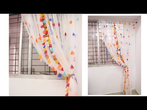 Make your own fabulous curtains using this simple trick | using only net fabric