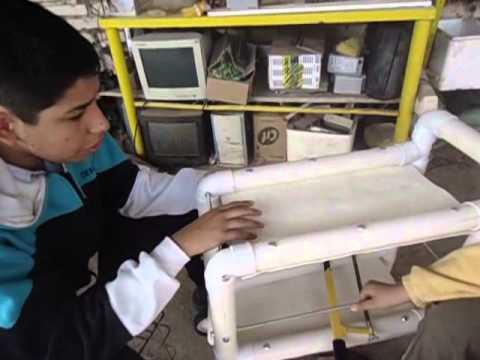 Mesa Estantera Mvil con Caos de PVC  YouTube