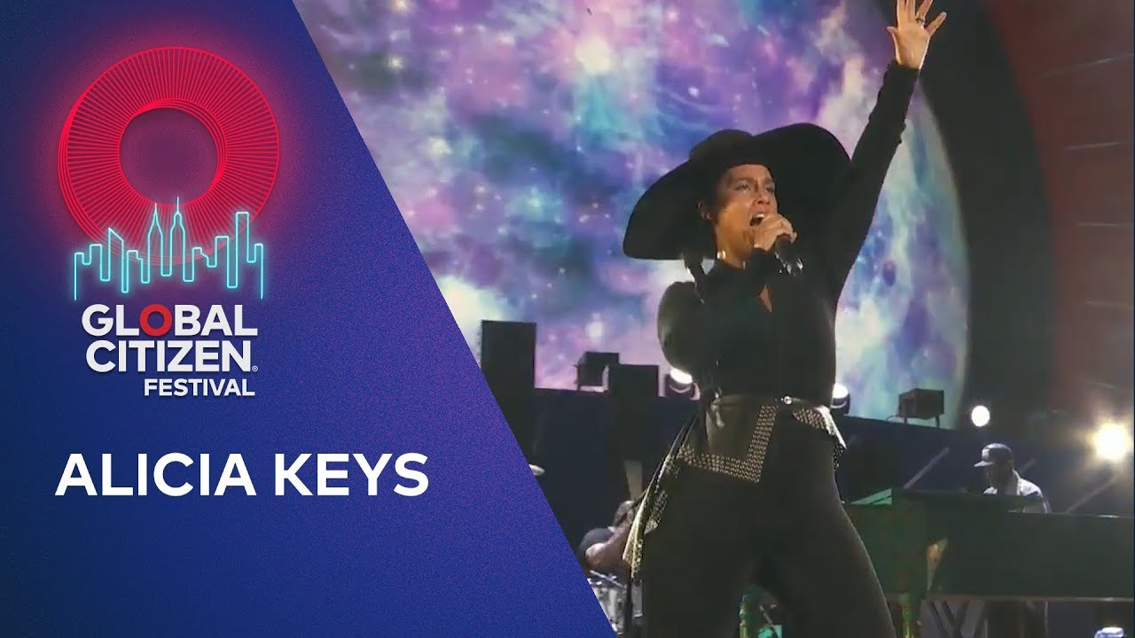 Global Citizen Festival 2020 Nyc.Alicia Keys Performs No One Global Citizen Festival Nyc 2019