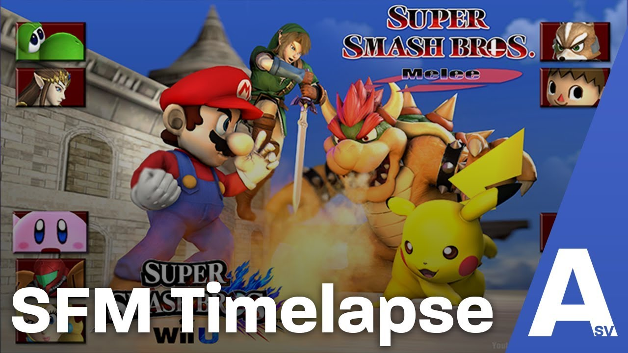 Sfm Wallpaper Timelapse Super Smash Bros Wii U Melee Youtube