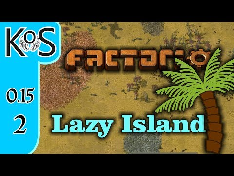 Factorio 0.15 Lazy Bastard Achievement Ep 2: AUTOMATION AT LAST! - Lazy Island, Let