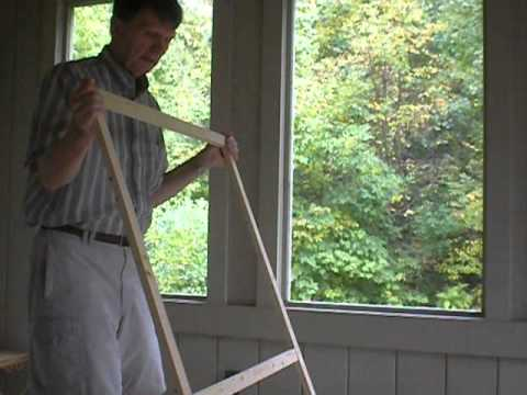Steve's screened-in porch storm window project
