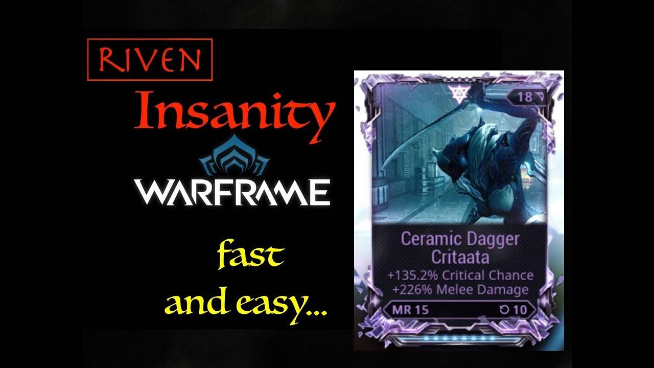 Riven Insanity Ceramic Dagger Gara S Build Youtube