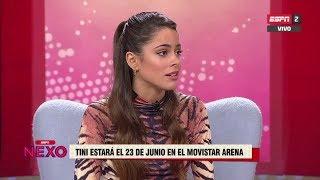 Tini, Cami y Greeicy el 23 de junio en Movistar Arena | Entrevista Tini en Chile (2)