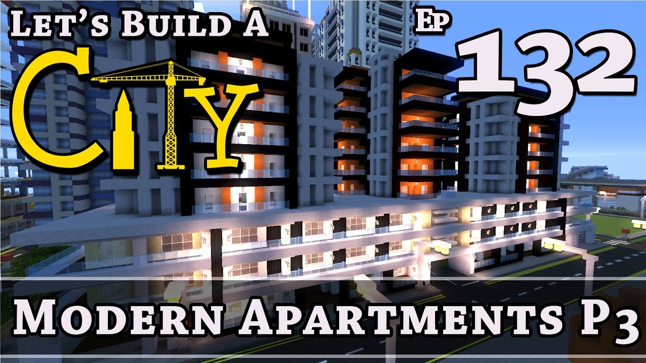 Minecraft Modern Apartment Building how to build a city :: minecraft :: modern apartments p3 :: e132