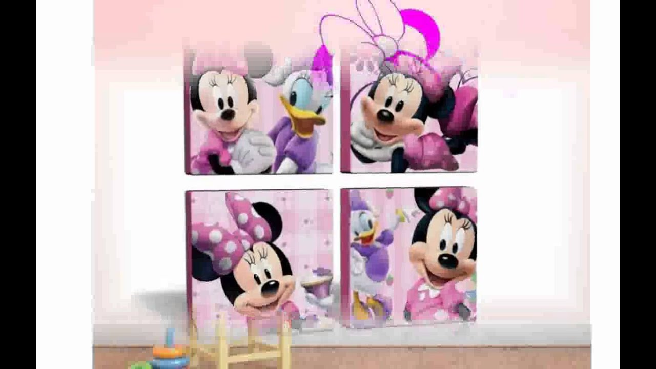 Minnie Mouse Wall Art - YouTube