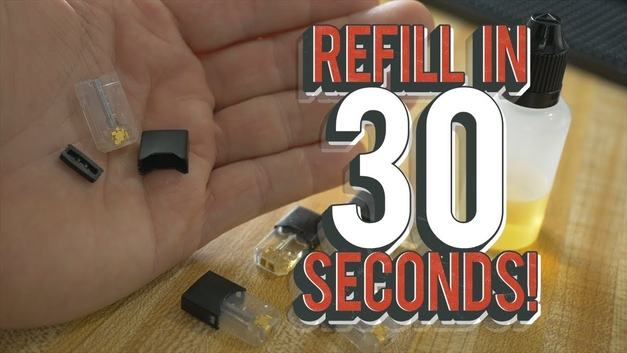 FAST EASY how to REFILL JUUL pods 30 SECONDS!