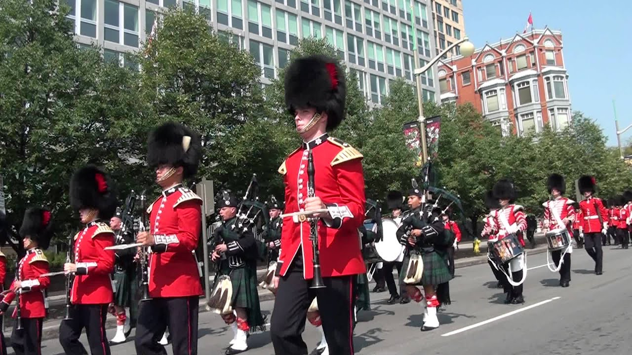 Governor general s foot guard marching down elgin street
