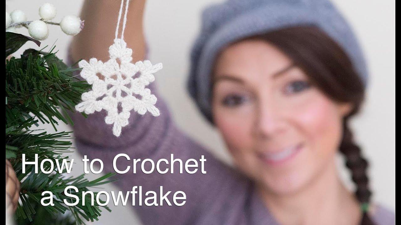 How To Crochet A Snowflake Youtube Snowflakescrochetpatterndiagram