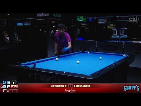 2018 US Open 8-Ball Championship: Dennis Orcollo Vs James Aranas