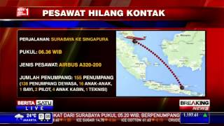 Kontak Terakhir Pesawat AirAsia Pukul 07.55 WIB
