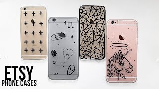 4 ETSY iPHONE CASES // DIY Tumblr Phone Covers Space Doodles