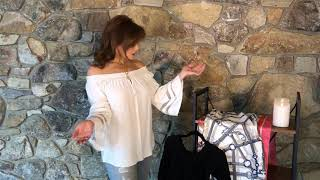 Off The Shoulder Top With Cut Out Sleeve Detail