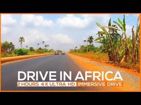 4K ULTRA HD drive in AFRICA - Nigeria, from Lagos to Abeokuta