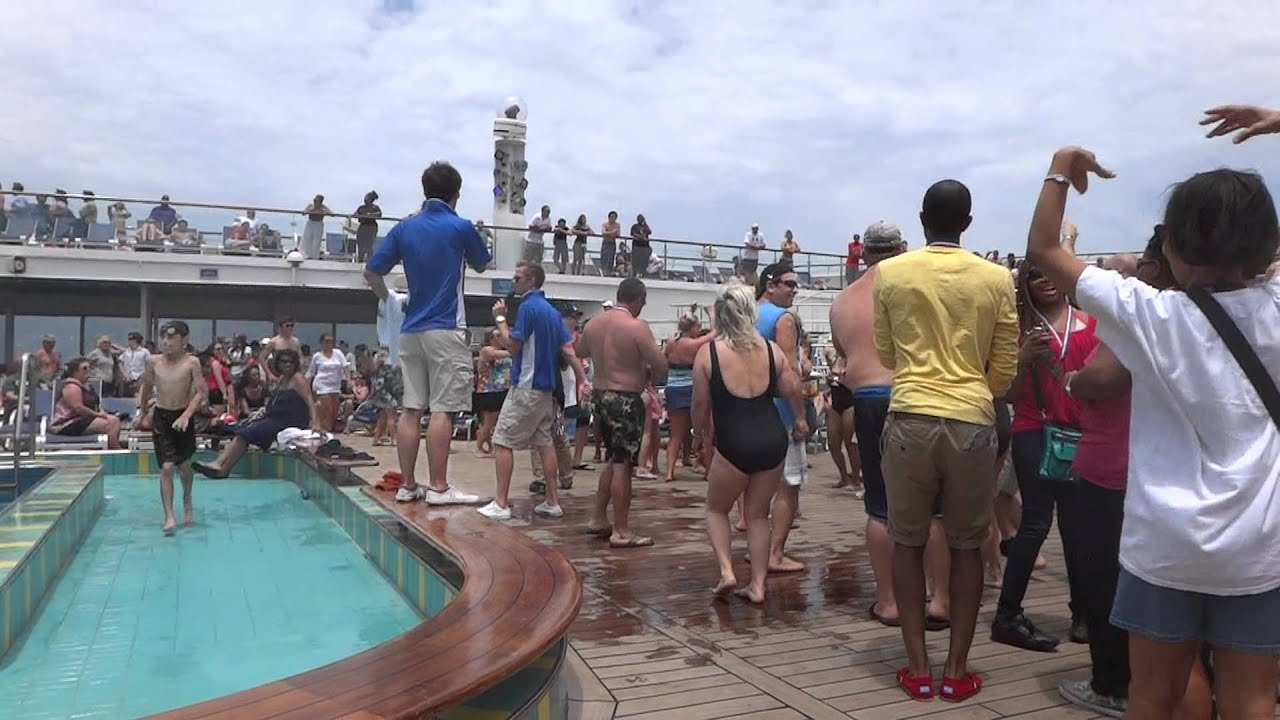 Carnival Cruise Ship Lido Deck Pool Party Fun Awesome May - Cruise ship party