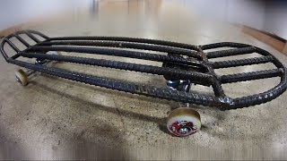 SUPER HEAVY REBAR SKATEBOARD | YOU MAKE IT WE...