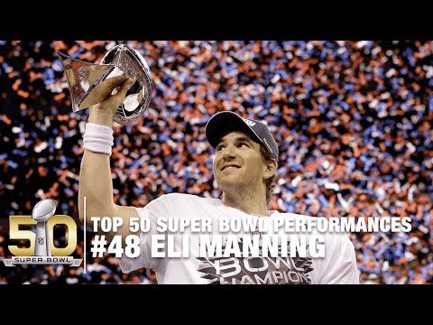 #48: Eli Manning Super Bowl XLVI Highlights | Top 50 Super Bowl Performances