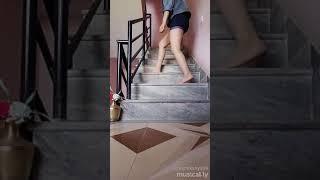 Stair shuffle dance #nepal  #musical.ly