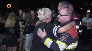 Brandweermannen geknuffeld voor inzet bij spoordrama in Oss [VIDEO]