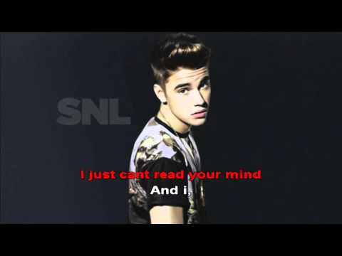 I Would   Justin Bieber     Lyrics Karaoke