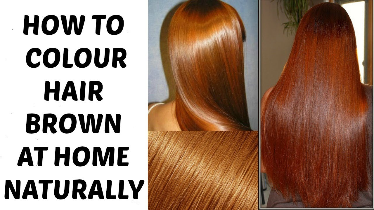 Colour Hair Brown At Home Naturally Ramsha Sultan Youtube