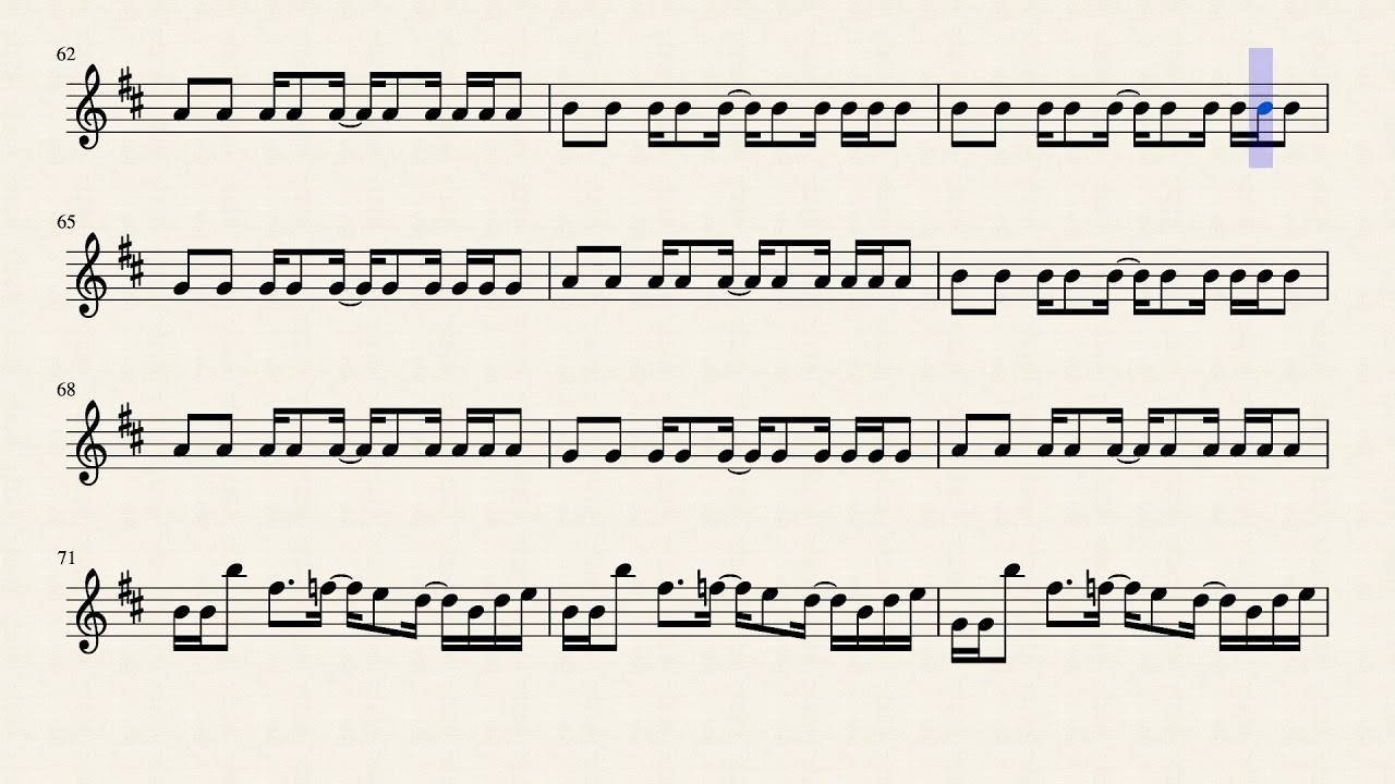 MEGALOVANIA, Toby Fox, sheet music for Alto Sax