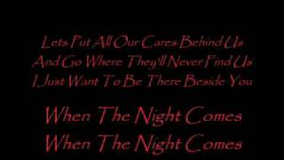 When the Night Comes (lyrics) -  Joe Cocker (Live)