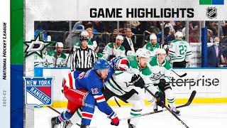 Stars @ Rangers 10/14/21 | NHL Highlights