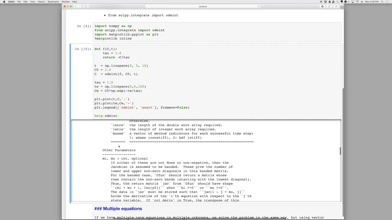 Python Rate Equations (ODEs)