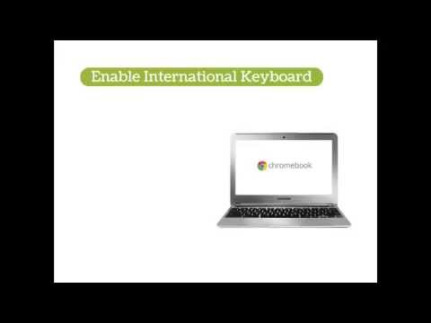 Accent Marks On The Chromebook Youtube