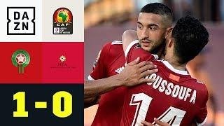 Eigentor in letzter Minute rettet Marokko: Marokko - Namibia 1:0 | Afrika Cup | DAZN Highlights