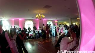 Boquet and Garter toss at Evergreen Country Club Wedding Djs